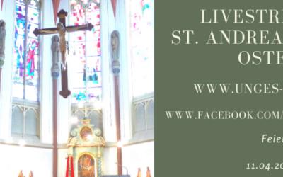 Gründonnerstag, Karfreitag und Karsamstag – Livestream aus St. Andreas